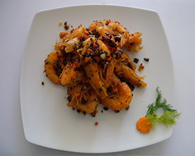 "SHRIMPS ""XIANG LA"" 350g."