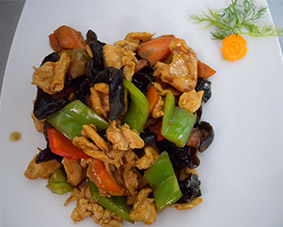 CHICKEN WITH MUSHROOMS 350g.